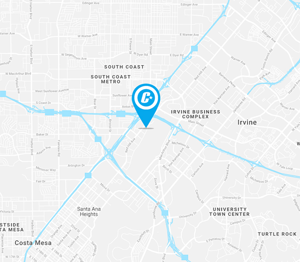 Directions and map of how to get to Blue C in Costa Mesa, California