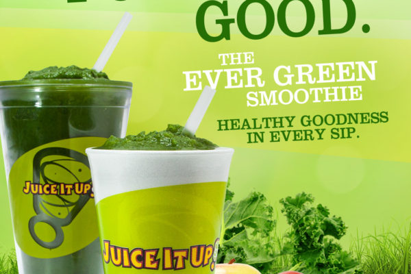 green smoothie for Juice it Up! franchise launch campaign